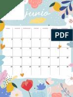 Calendario Junio Mlc Vertical