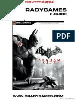 Batman Arkham City Bradygames Eguide
