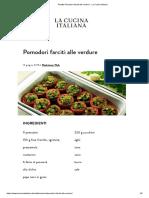 Ricetta Pomodori Farciti Alle Verdure - La Cucina Italiana