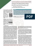 Environmental Impact of Geothermal Power Plant