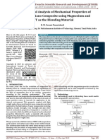Fabrication and Analysis of Mechanical Properties of Metal Matrix Nano Composite using Magnesium and CNT as the Blending Material