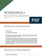 1.- Reservas de Hidrocarburos