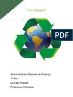 reciclagem ambiental