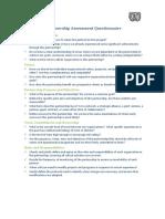 Partnership Assessment Questionnaire