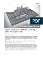Chemical cleaning of Paper mill