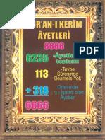 Kuran 6666 Ayet
