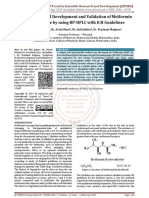 Analytical Method Development and Validation of Metformin Hydrochloride by using RP HPLC with ICH Guidelines
