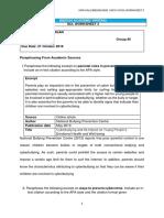 Bbi2424 Scl Worksheet 3 (Week 5-6) - Paraphrasing