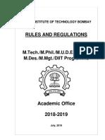 m Tech Rules