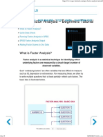 SPSS Factor Analysis - Absolute Beginners Tutorial Julio