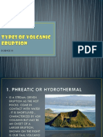 Types of Volcanic Eruption Erb