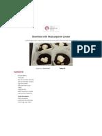 Brownie With Mascarpone Cream