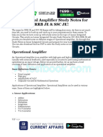 Operational Amplifier Study Notes for Rrb Je Ssc Je b6d5da06