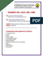 INFORME N°4 PRUEBA METALURGICA - CEMENTACION