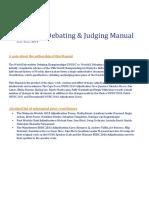 WUDC 2019 Debating & Judging Manual