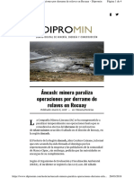Ancash Minera Paraliza Operac