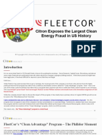 Fleetcor Citron Exposes the Largest Clean Energy Fraud in US History