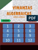 ADIVINANZAS ALGEBRAICAS