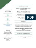 Currículo 2019 - Cláudio Henrique Pessoa Brandão