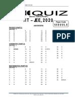 Panini Quiz Answer Key for Esankalp921bp1 Batch