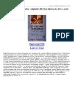 Circulo Hermetico Cartas Originales de Dos Amistades
