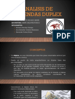 Analisis de Viviendas Duplex