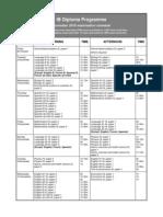 November Examination Schedule