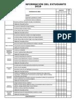 Tarjeta de Información 2019