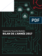 Kaspersky Security Bulletin Bilan 2017