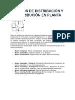 Métodos de Distribución y Redistribución en Planta