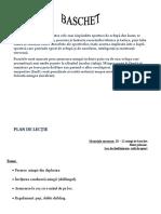 Baschet - Referat și plan de lecție