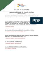 PV commission régionale du contrôle des clubs