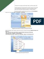 Cara Mengubah Satu Halaman Menjadi Landscape Atau Portrait Pada MS Word 2007