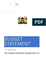 Budget Statement for Fy 2019_20