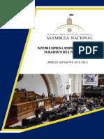 Informe Sobre La Situación de Los Parlamentarios Venezolanos