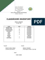Classroom Inventory - 2018-2019