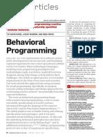 Behavioral Programming