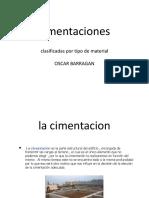 Cimentaciones Clasificadas Por Tipo de Material_Oscar Barragán