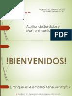 Auxiliares de servicios y mantenimiento
