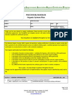 Processor Handler Organic System Plan