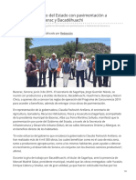 03-06-2019 - Beneficia Gobierno del Estado con pavimentación a habitantes de Bacerac y Bacadéhuachi - Canalsonora.com
