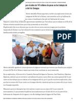 12-05-2019 Supervisa Astudillo las obras que se realizan en el Río de la Sabana; se busca evitar inundaciones.