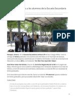 06-06-2019 - La SEC Dona Lentes a Los Alumnos de La Escuela Secundaria 29 de Navojoa -Tribuna.com.Mx