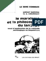 [Bakhtine] 1929 - Le Marxisme Et La Philosophie Du Langage