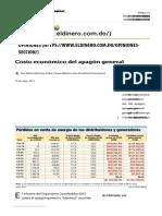 Costo Económico Del Apagón General