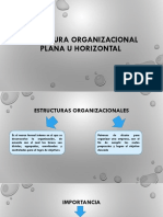 Estructura Organizacional Plana u Horizontal