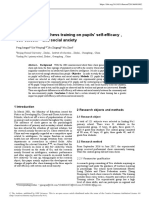 The influence of chess training on pupils' self-efficacy, self-esteem and social anxiety