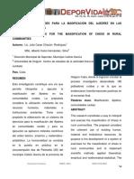 SISTEMA DE ACTIVIDADES PARA LA MASIFICACIÓN DEL AJEDREZ EN LAS COMUNIDADES RURALES