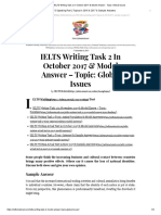 IELTS Writing Task 2 in October 2017 & Model Answer - Topic_ Global Issues