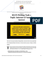 IELTS Writing Task 2 in 2017 Topic_ Internet & Sample Answer